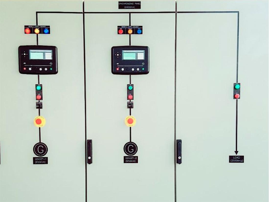 2 x 650kVA + Synchronization Panel 2