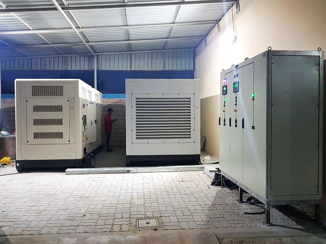2 x 650kVA + Synchronization Panel 4