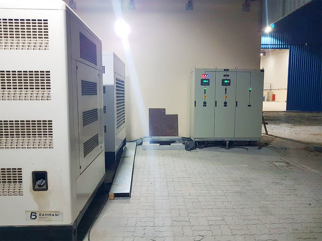 2 x 650kVA + Synchronization Panel 6